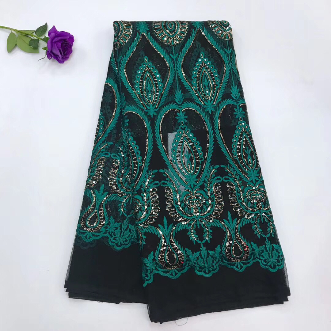 Luxury african lace fabric high quality french guipure lace fabric 2018 new arrival sequins lace fabric for party J24161