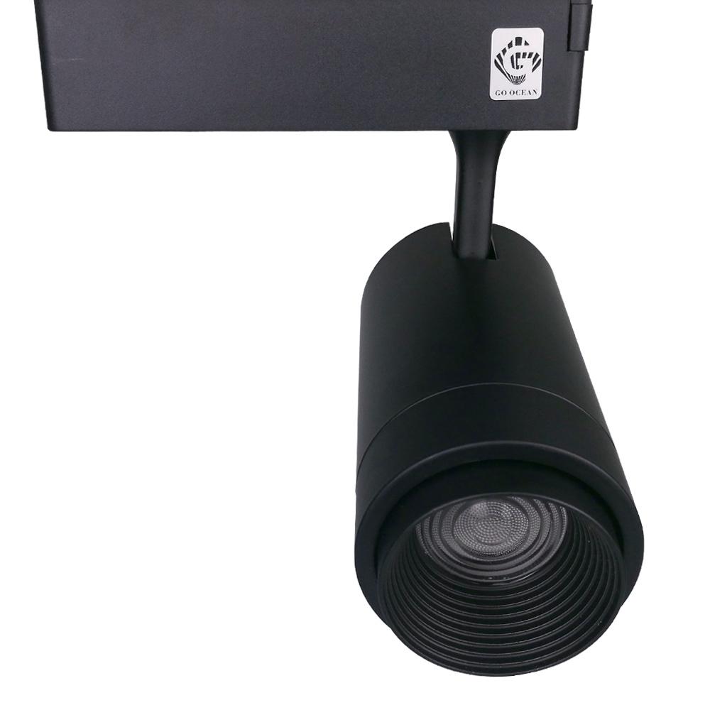 GO OCEAN Track Lighting LED Track Light Black White Adjustable Rotatable 12W 20W 30W Rail Lamp Art Deco Rail Spot Lights (29)