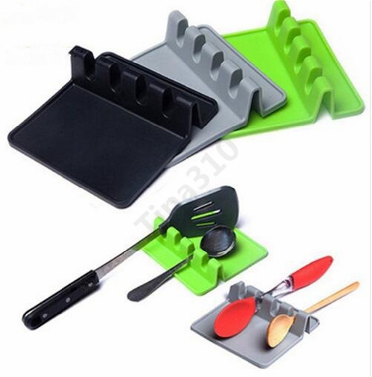 Silicone Tableware Rack Mat Pads Spoon Mat Spatula Table Placemat Waterproof Non-slip High quality T1I964