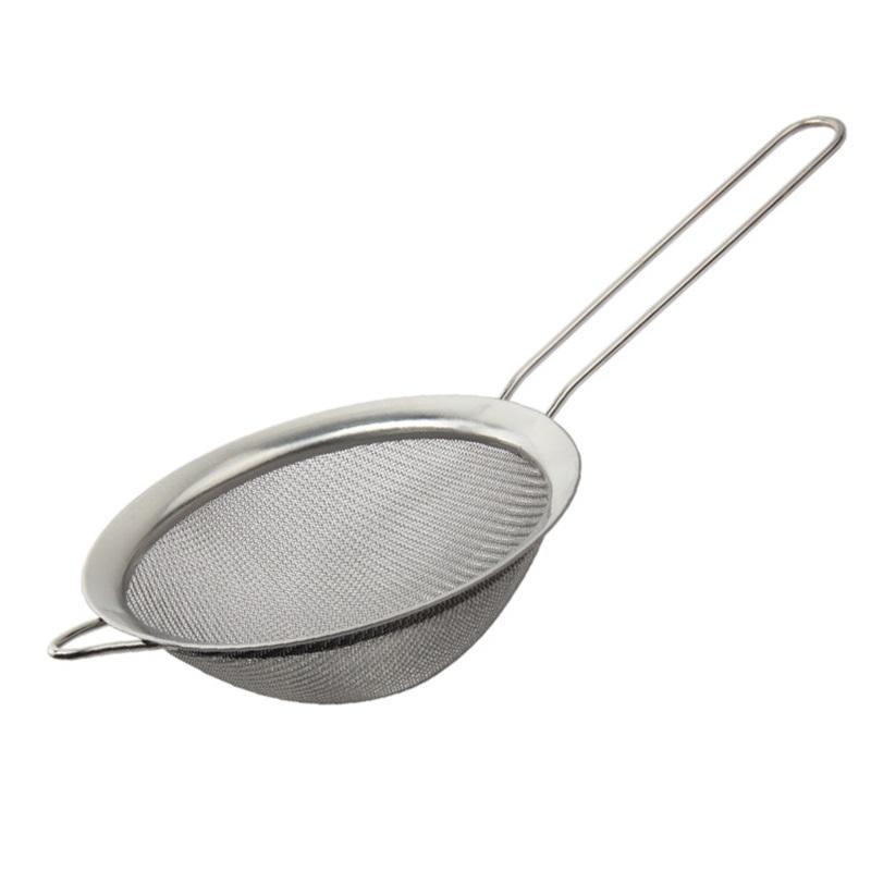 Mesh Sieve,Kitchen Handheld Plastic Screen Mesh Tea Leaf Strainer Flour Sieve Colander