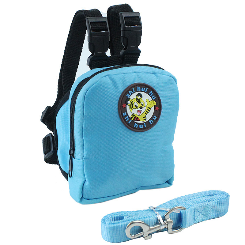 Pet Dog Backpack for Small Dog Nylon Backpack For Pet Cat Multifunction School Bag Dog Backpack With Harness Leash (11)