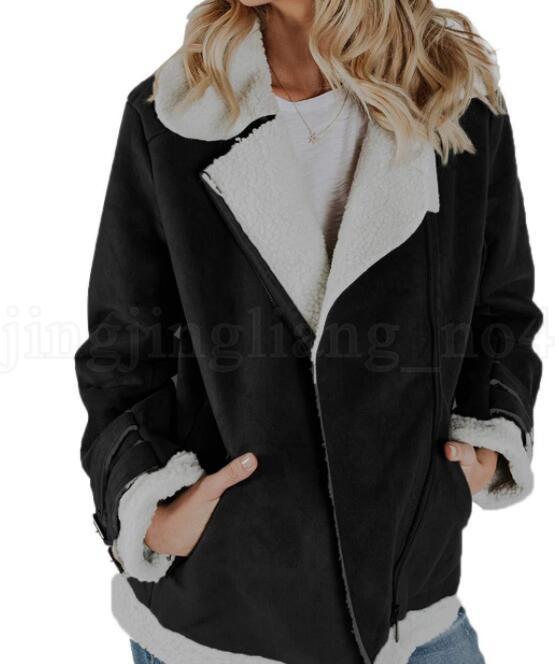 Bayan Süet Kürk Sıcak Ceket Lokomotif Coat Dış Giyim moda casual kadın giyim ceketler Lokomotif Coat LJJK1072