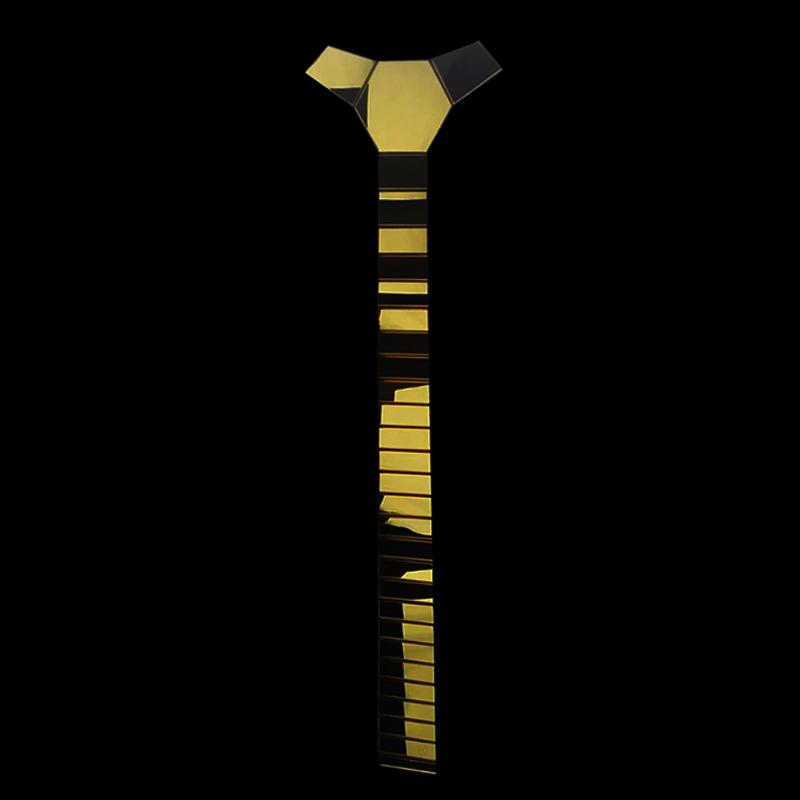 Silla trasera broche de oro rosa 8.5cm