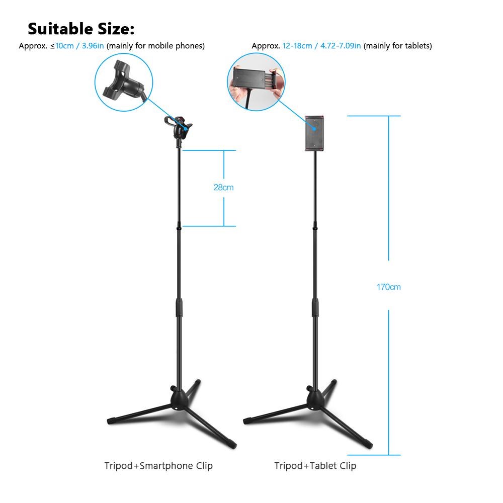 Mini Flexible Tripod Phone Stand Foldable Aluminum Alloy Adjustable Portable Tablet Clip Travel Tripod for Iphone iPad Mini