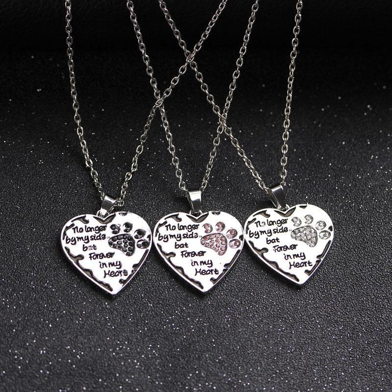 Huilin Jewelry Silver Forever Love Heart Blue Enamel Puppy Paw Charm Wheat Chain Bracelet