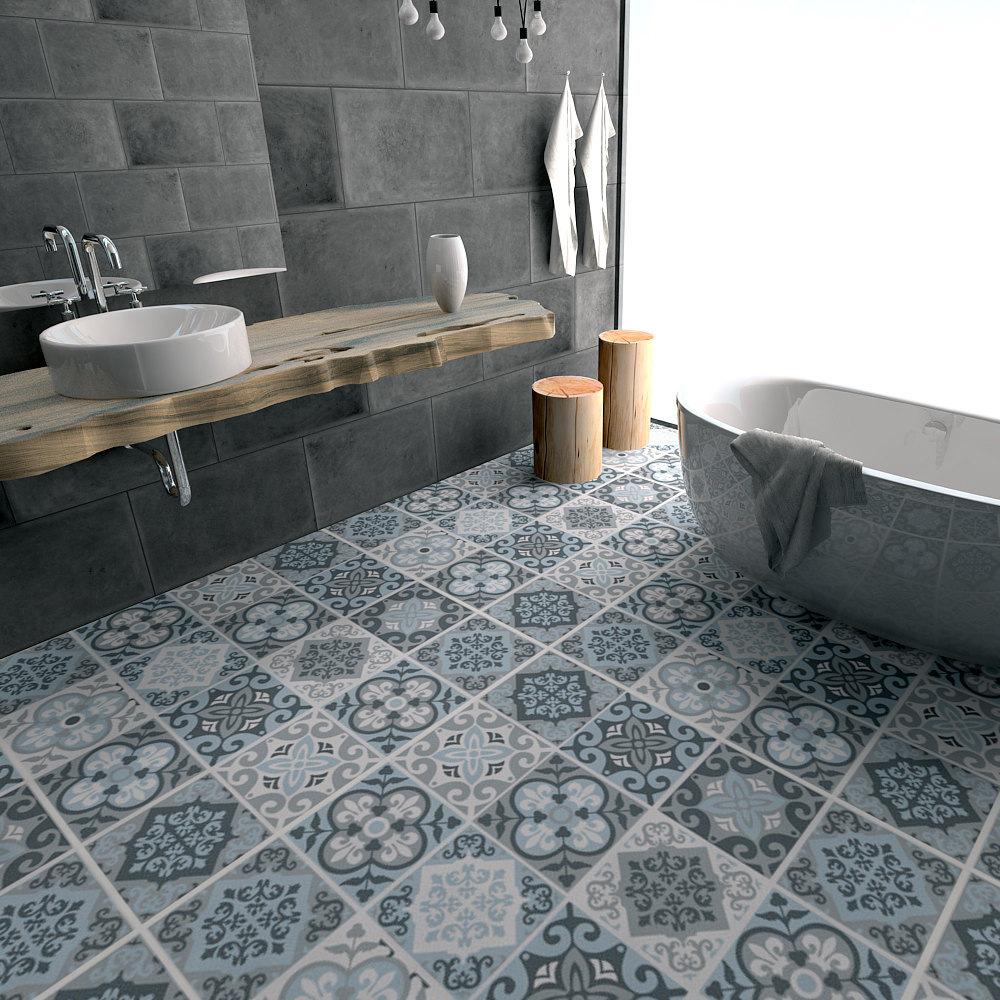 Piastrelle Cucina Da Incollare acquista piastrelle grigio blu antiscivolo pavimento impermeabile  resistente allusura incollare gli adesivi da pavimento cucina soggiorno  y18102209 a