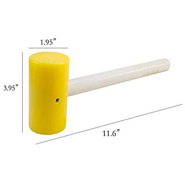 Ouvreur en acier inoxydable de catégorie comestible 304 avec ouvreur de noix de coco avec marteau en caoutchouc, manche en bois, facile à utiliser et durable Y18110204