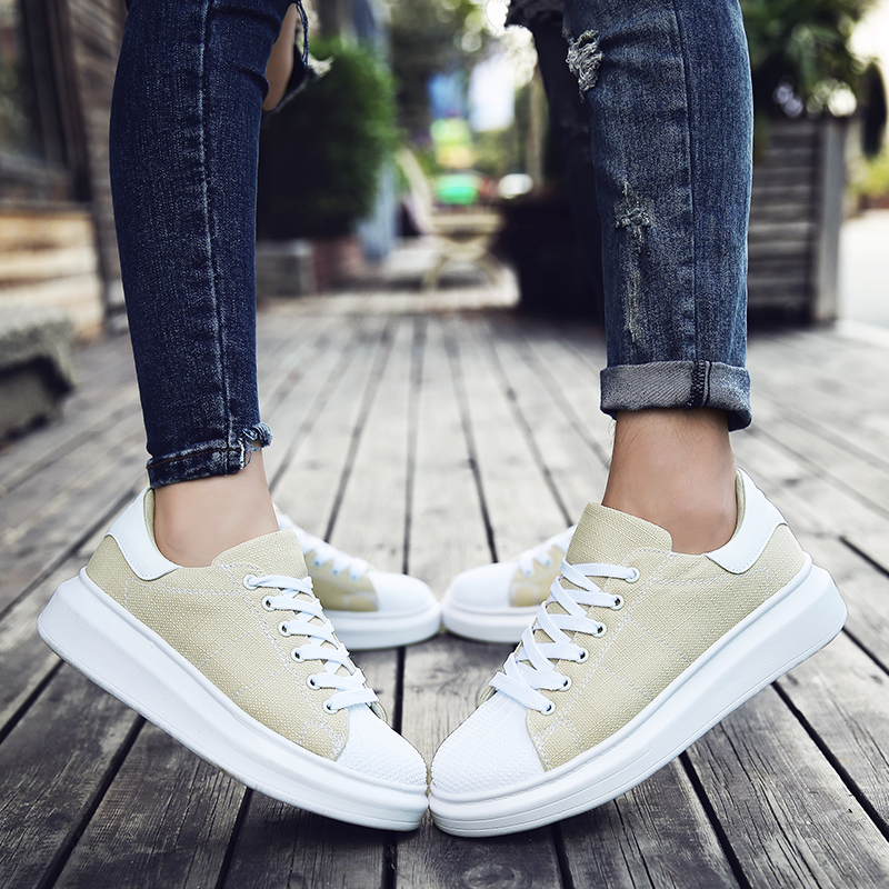 Women Vulcanized Shoes men Sneakers Ladies Lace-up shoes Couples Flat Heel lovers Canvas Shoes Casual Light Loafers size 36-44