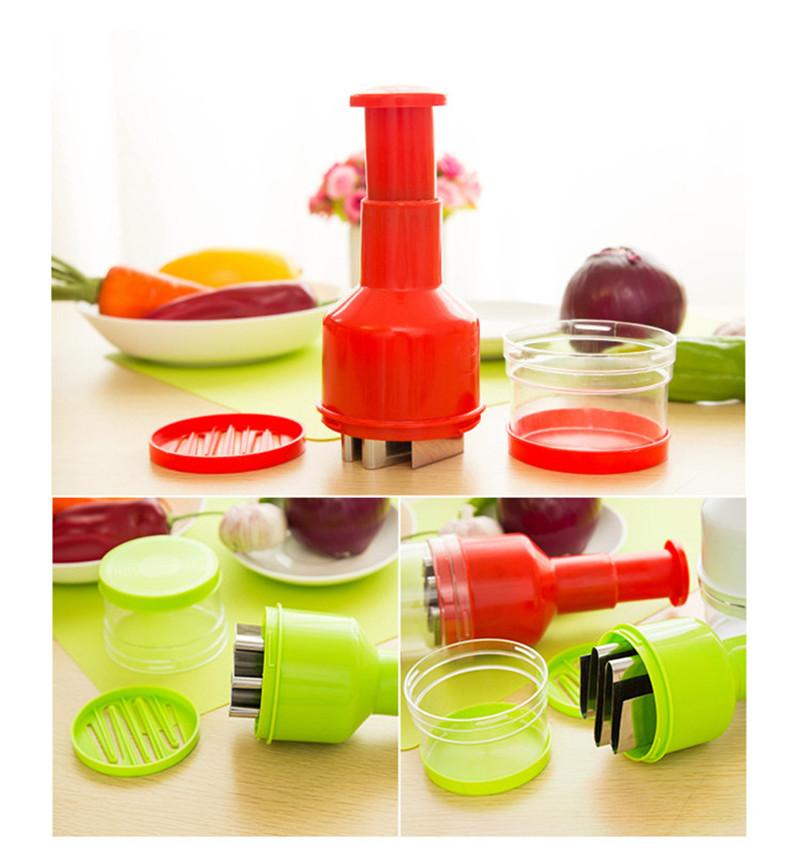 2016 New Creative Onion Slicer Multifunction Kitchen vegetable Chopper Creative Hand Garlic Press Kitchen Appliances HA115 (5)