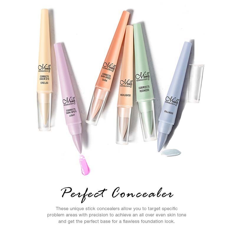M.n Menow CC Concealer Pen Dark Spots Removing Brighten Color Corrector Moisturizing Long Wearing Face Makeup for Dry Skin