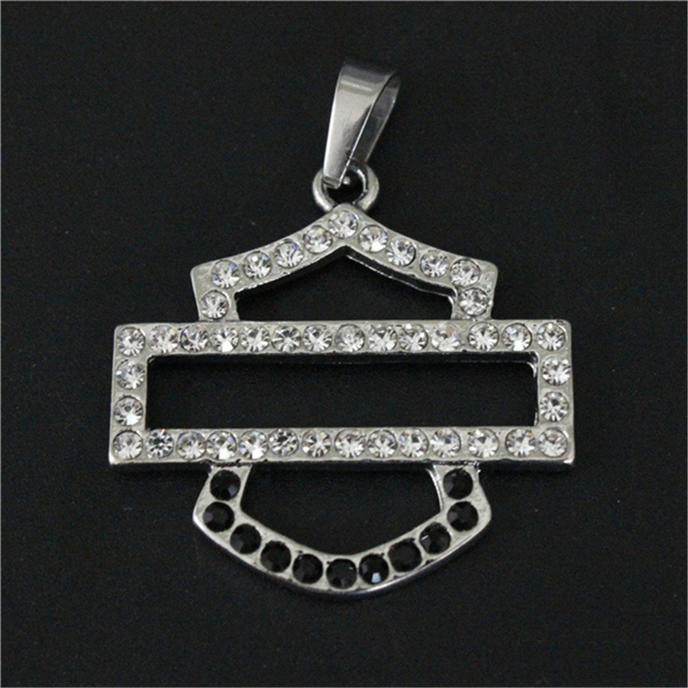 5pcs/lot Biker Style Crystal Unisex Pendant 316L Stainless Steel Jewelry Popular Hot Selling Motorcycles Pendant