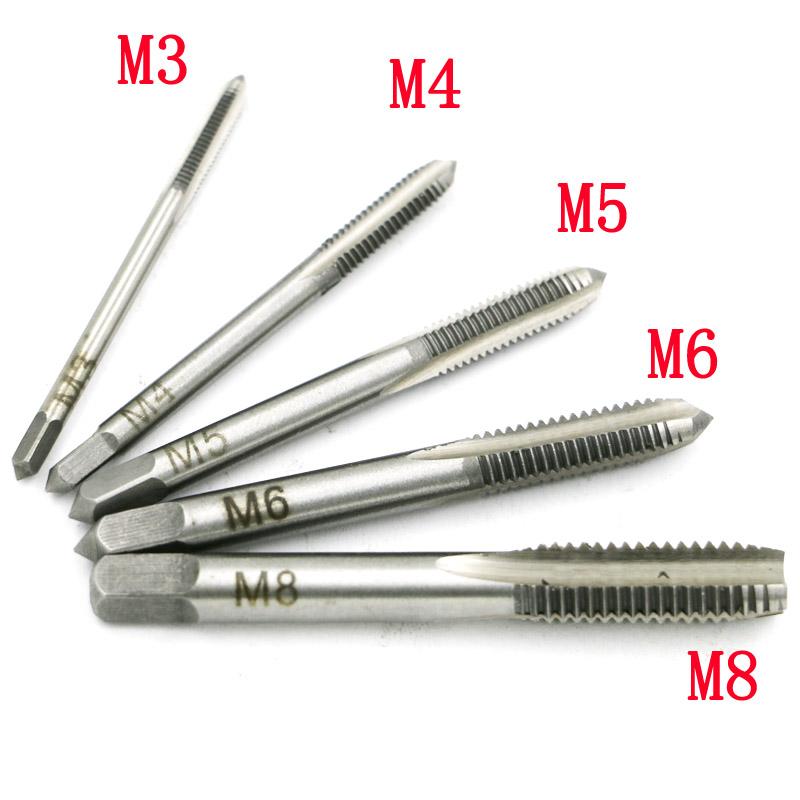 """HSS Gewindebohrer Gewindeschneider Set 1//4/"""" Sechskantschaft M3 M4 M5 M6 M8 M10"""