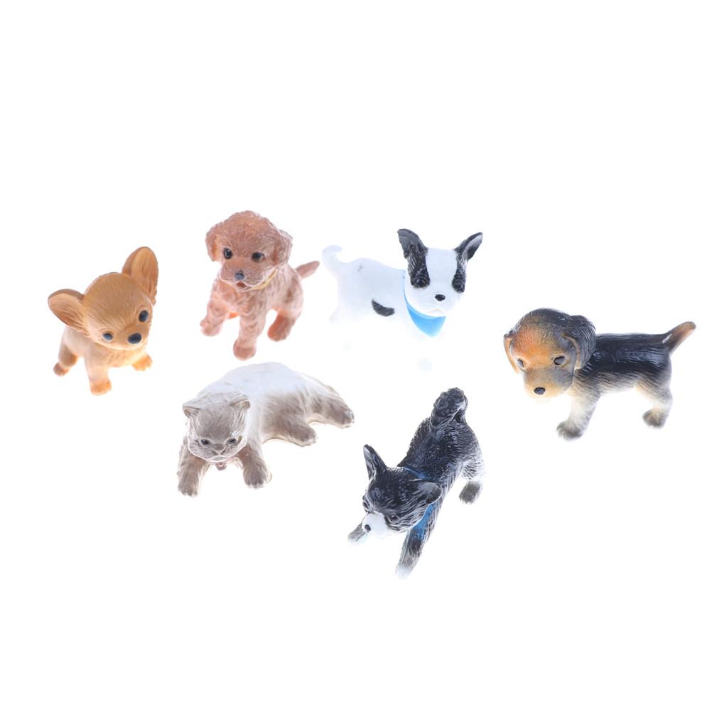 Modelo de escena Casa de Muñecas en Miniatura Accesorios De Casa De Muñecas Mini Gato Perro Comida Bas Fo