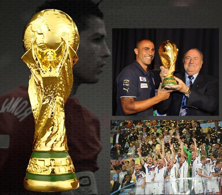 Lastest World cup Soccer Resin Trophy Champions Great Souvenir for gift size 13cm,21cm,27cm,36cm(14.17'') as fans gift or Coll