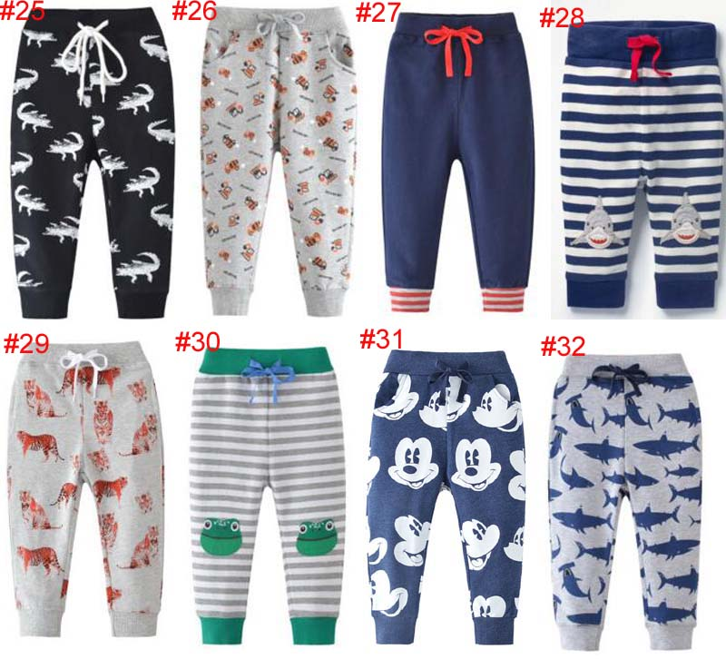 INS casual Baby kids boy clothing pants cartoon Shark Car Plane Dinosaur Print Spring Fall Pant girl boy kids clothing pants