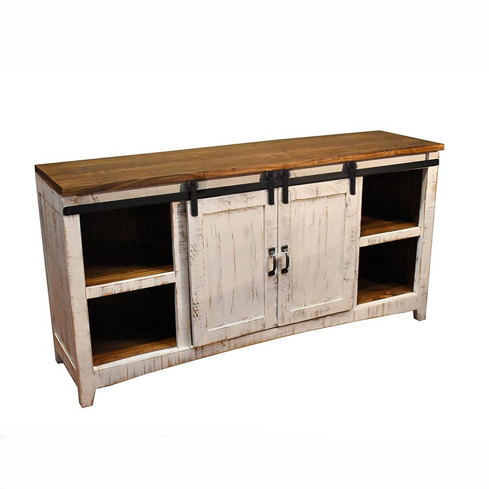 """Coulisse Porte De Grange kit de rail de porte de porte de grange pour quincaillerie, porte en bois  double porte de grange coulissante, armoire en bois, 48 """"60"""" 72 """"79"""""""