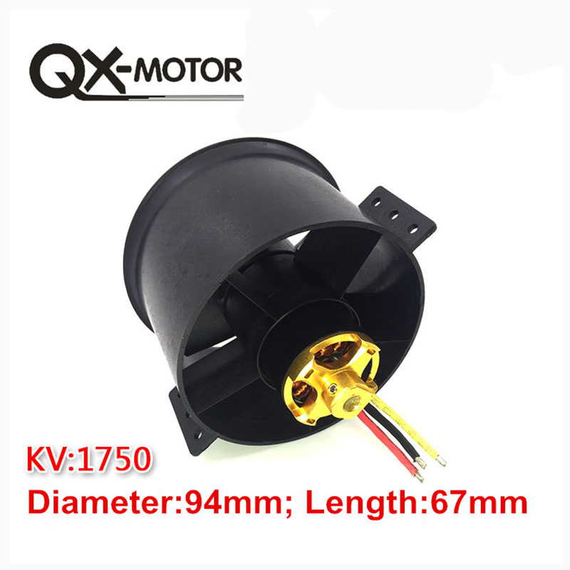 QX 90mm 6 Blades Ducted Fan EDF Unit With 3530 KV1750 Motor 6S Version For RC Airplane Model Plane Parts