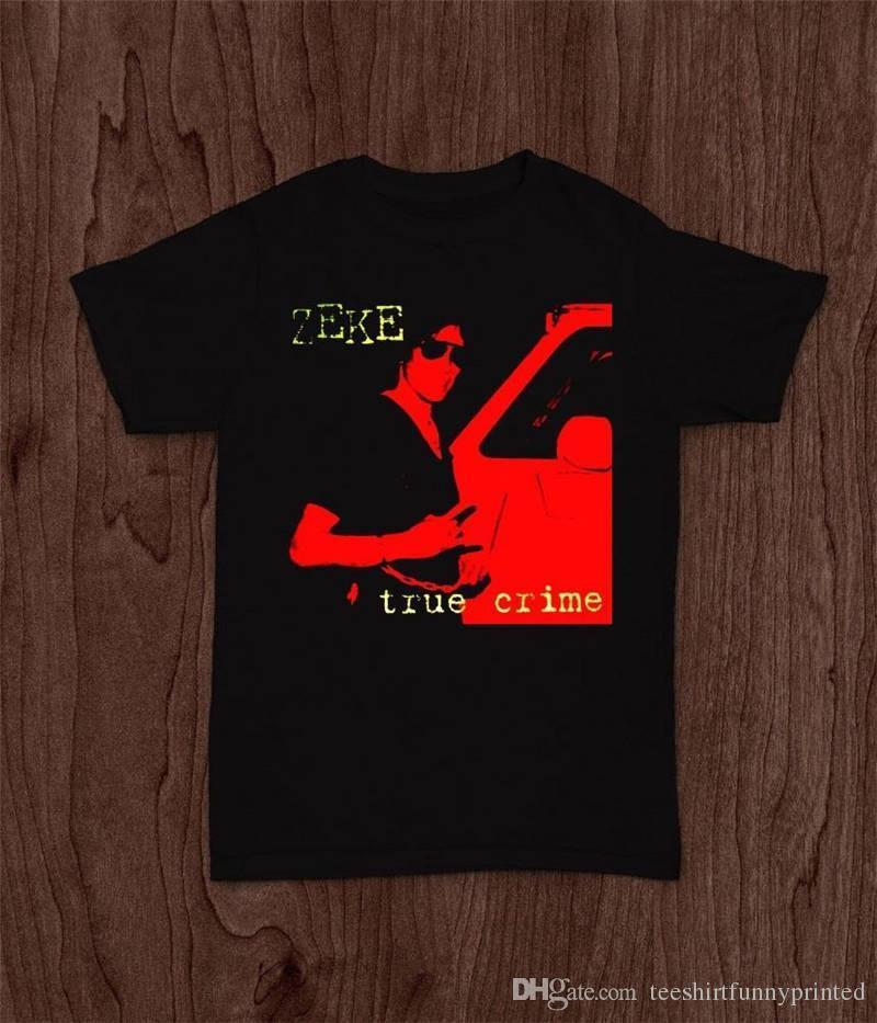 Custom Made Boa Qualidade T Shirt Crew Neck Zeke True Crime Camisas de Presente Curto Para Homens