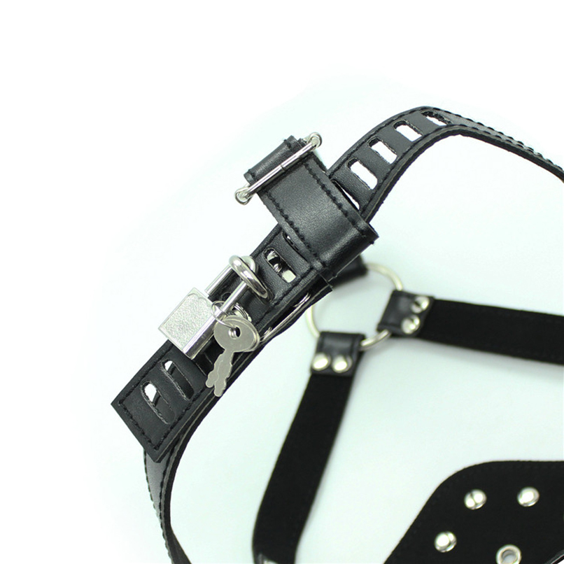 Gag for Women Men Sex Mask with Lock Restraints Mouth Gag Slave Mouth Plug in Adult Game Head Harness Erotic Sex Products Toys