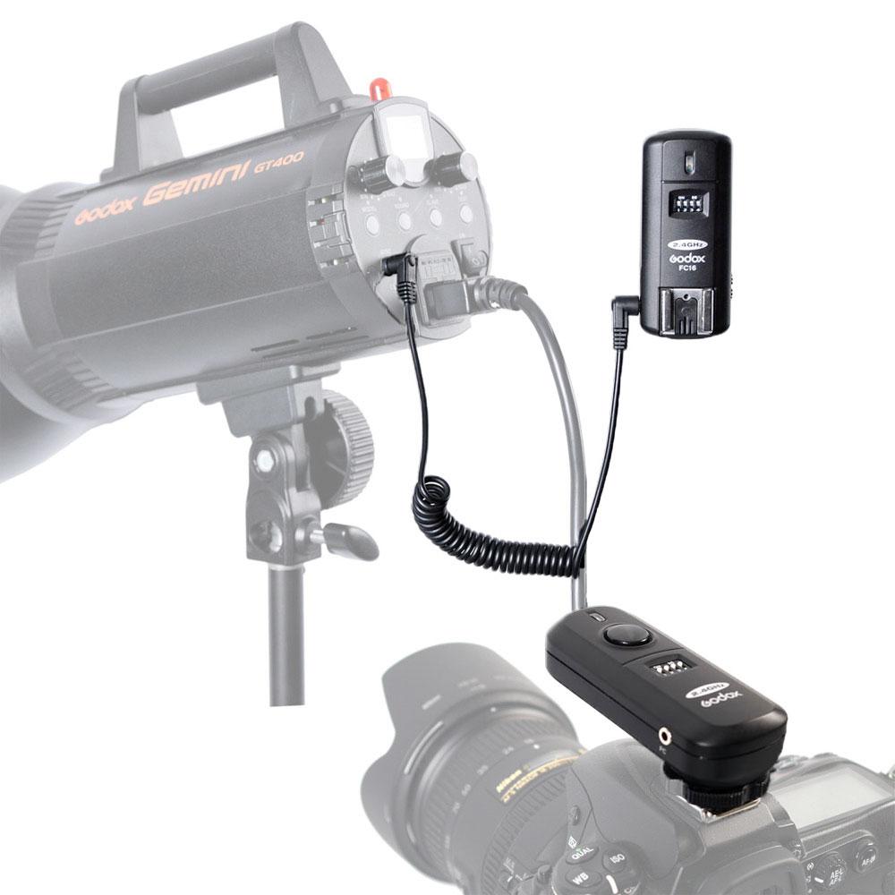 Godox 2.4G Wireless Flash Trigger FC-16 Transmitter+Receiver Kit (2)