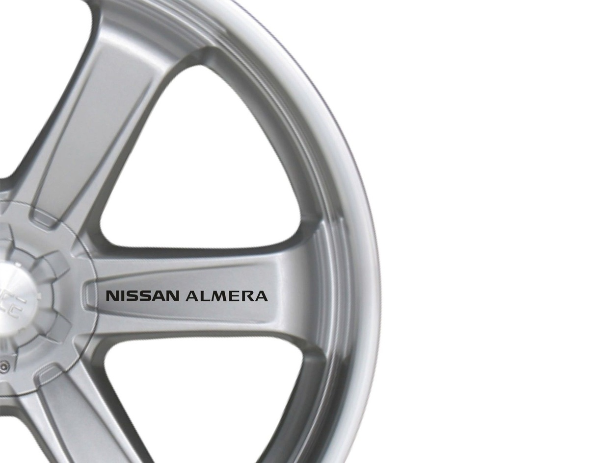 For 6x Car Alloy Wheel Sticker fits Nissan Almera Decal Vinyl Adhesive PT54