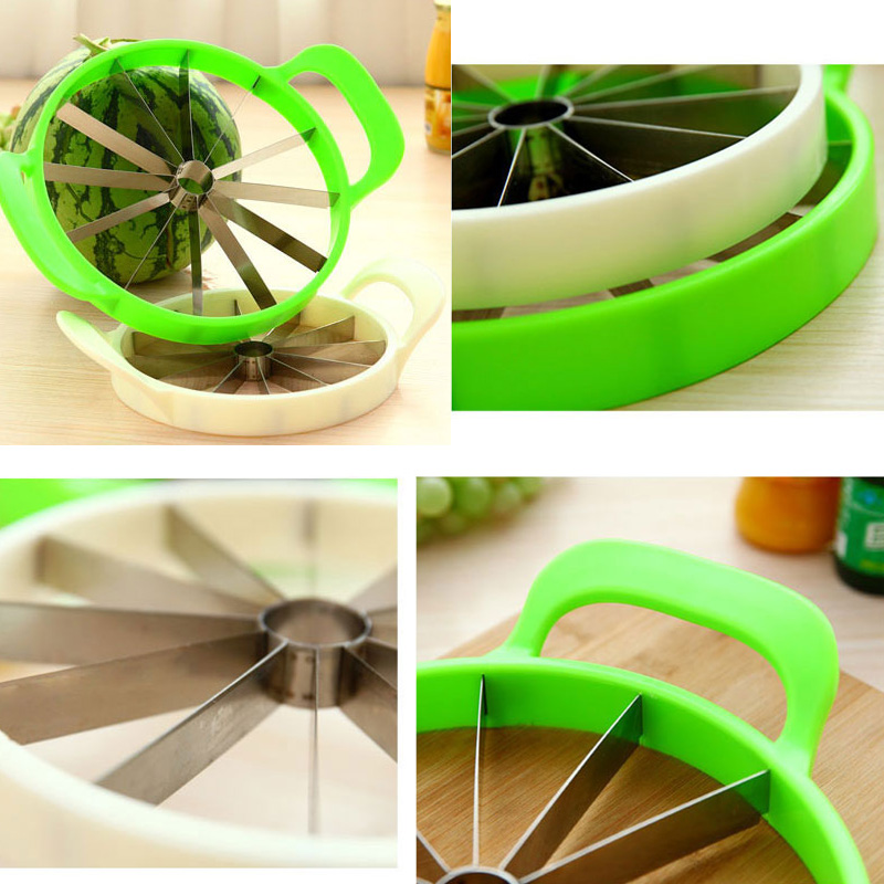Kitchen gadgets 2018 Summer Stainless Steel Watermelon Sliced cutter knife fruit Slicer Salad Making tools kitchen accessories (12)