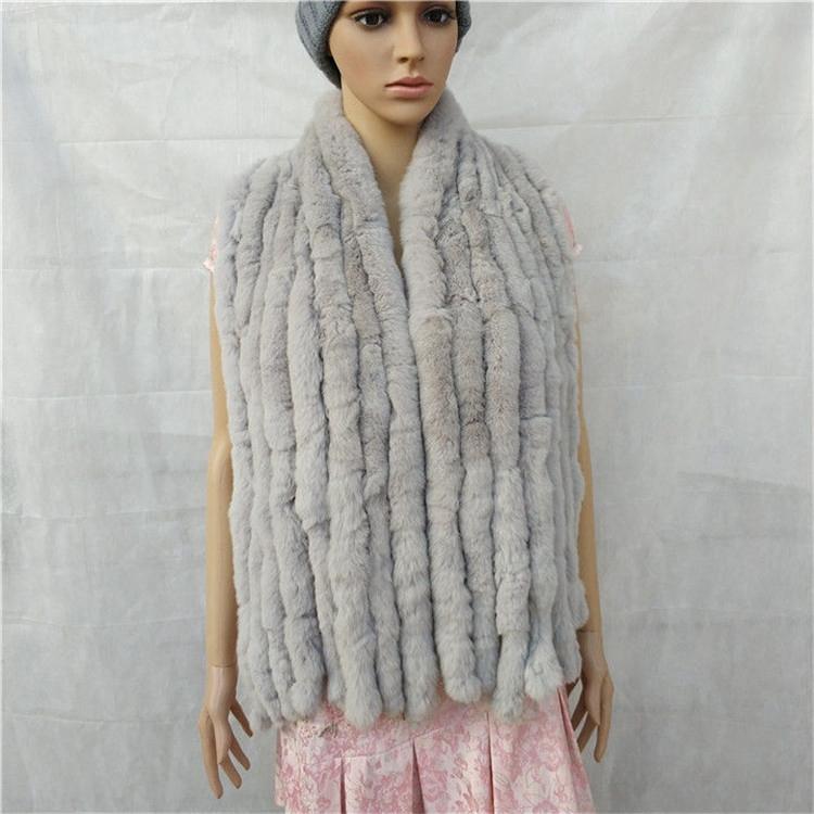 knitted rex rabbit fur scarf for women winter (11)