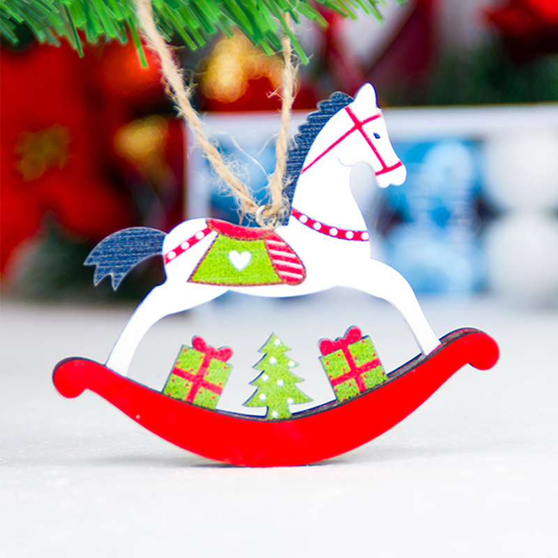 Christmas-tree-horse-pendant-Christmas-color-wooden-horse-ornaments-Xmas-door-hanging-decorations-for-Home-Party (2)
