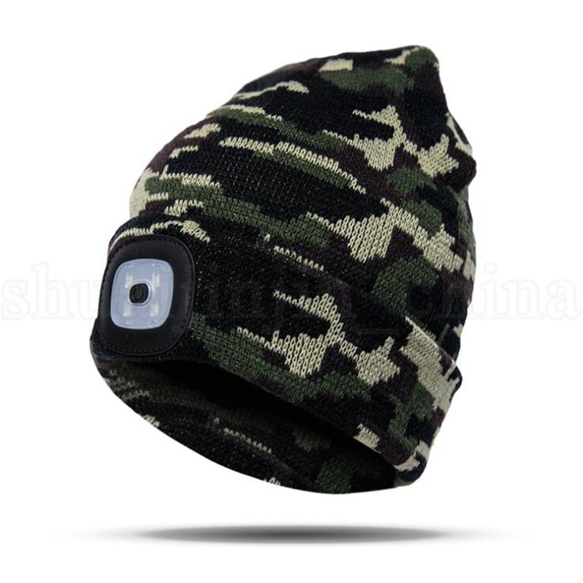 LED Outdoor Strickmütze Beanie Batterietyp Camping Klettern Angeln LED Kopf Licht Kappe Winter Warm Woolen Mädchen Hüte OOA5686