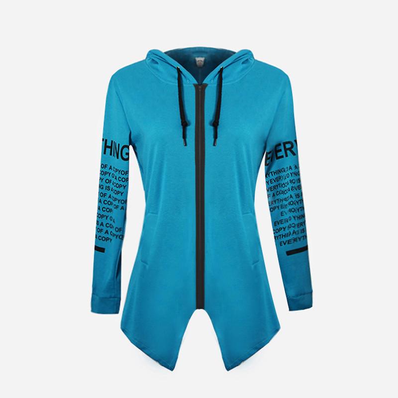 Fashion Cardigan Hoodies 2018 New Long Sleeve Women Sweatshirt Letter Print Sports Casual Hoodies Youth Sweaters Tops Plus Size S-6XL