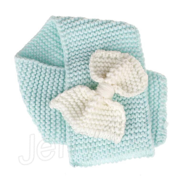 Kinder Weiche Gestrickte Schal Mode Wolle Warme Halstücher für Mädchen Winter Großen Bogen Ring Schal Schalldämpfer Kleidung Zubehör LE122