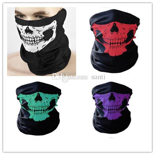 Face windproof Mask Outdoor Motorcycle Bicycle Masks Scarf Half Cap Neck Ghost