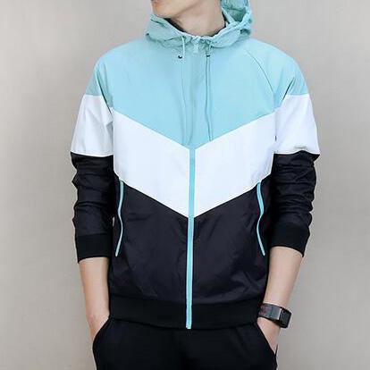 Mens Designer Vestes Sport Coupe-Vent Hoodies Patchwork Lettre Imprimer Hommes Sportswear Running Coat Zipper 4 Couleurs