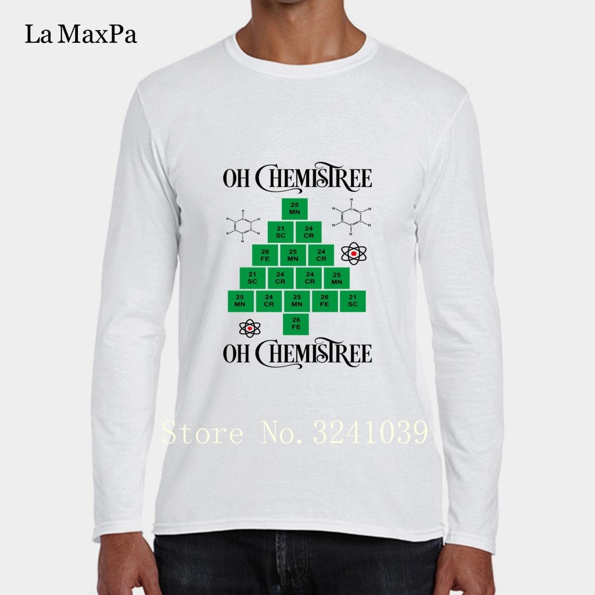 Fai la moda personalizzata più nuova Tee Shirt Uomo Chemistree Original T-Shirt Man Primavera Autunno Crew Neck Streetwear Regular Tshirt