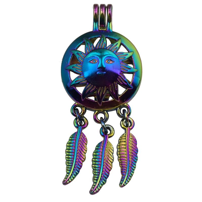 25mm Magic Color Dreamcatcher Perfume Locket Mixed 35 Styles Tassel Aromatherapy Essential Oil Diffuser Cage Pendant For Jewelry Making