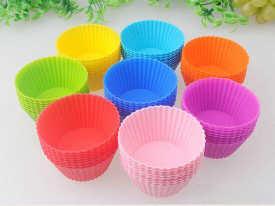 Silicone Muffin Cake Cupcake Cup Cake Mould Case Bakeware Maker Mold Tray Baking Jumbo