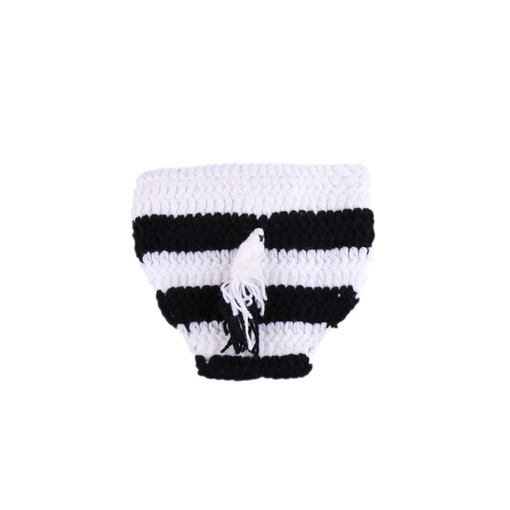 Apoyos de la foto de la cebra Bebé recién nacido de punto del sombrero del animal con la cola del bebé Apoyos de la fotografía Lindo casquillo infantil Novedad Regalo recién nacido