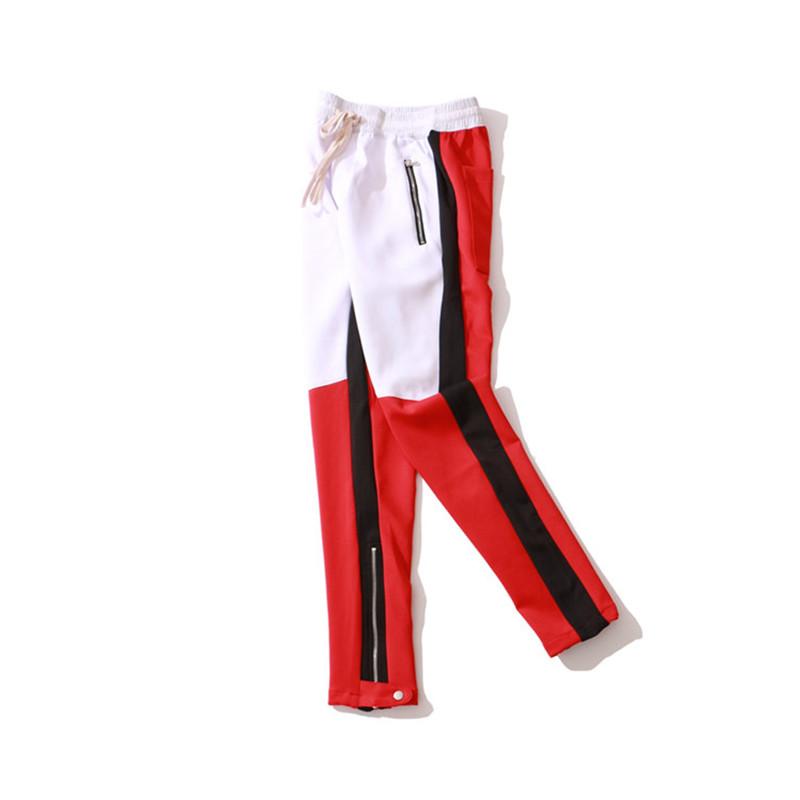 Pantolon Joggers Parça Pantolon Erkekler Kalem Pantolon Tam Boy Sıska Asetat Kumaş Elastik Bel Fermuar Rahat Moda Aktif Yaz Boyutu S-2XL