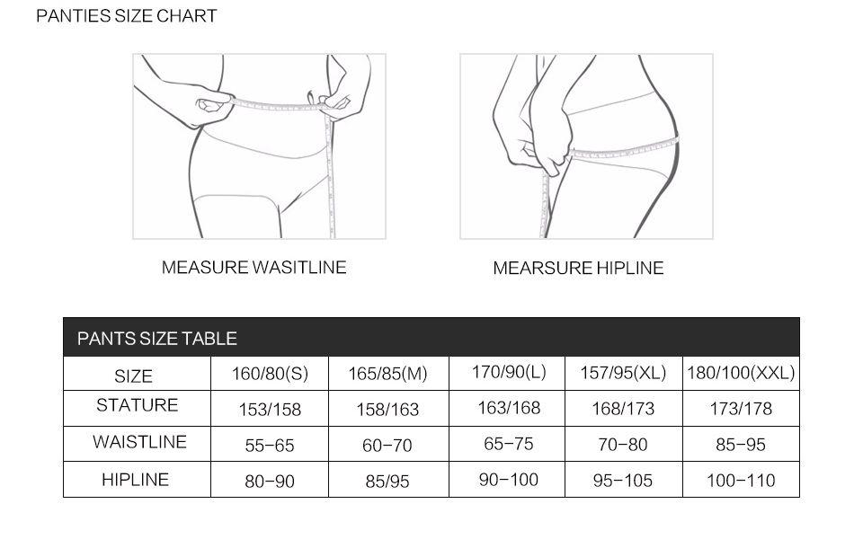 Panty\`s Size Chart