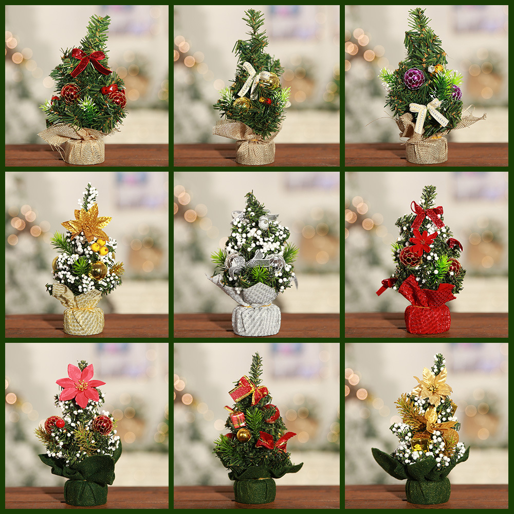 22*11cm Mini Merry Christmas Tree Bedroom Desk Decoration Toy Doll Gift Home Children Natale Ingrosso Christmas Decorations for Home 9 Style