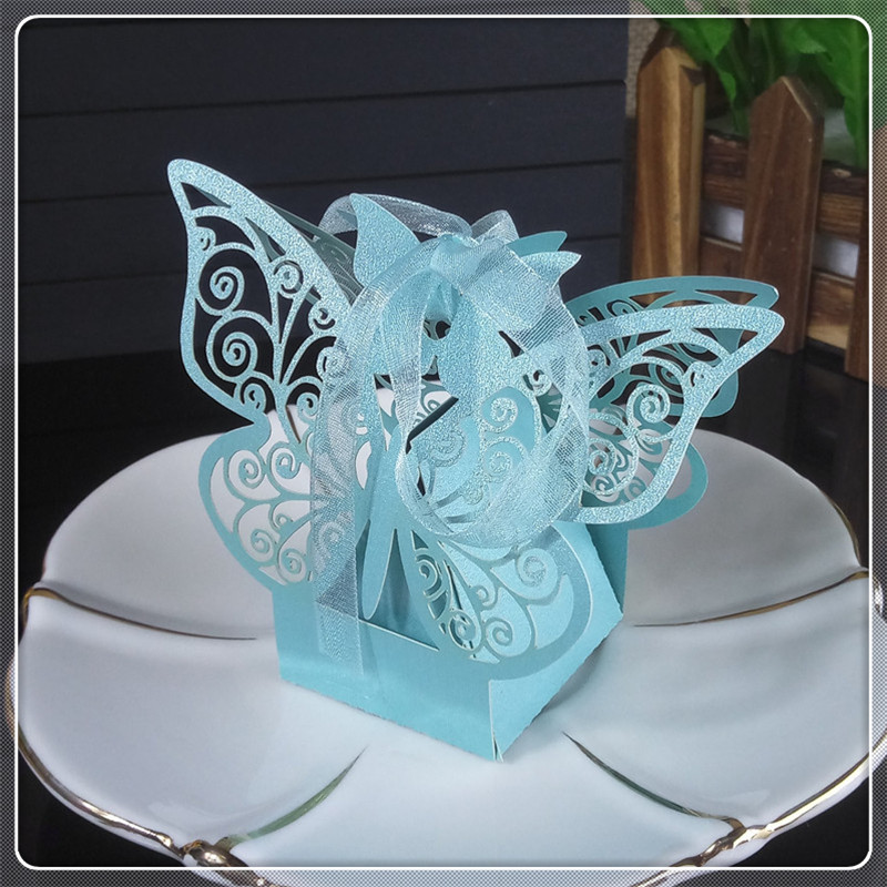 Wedding Party Candy Box Laser Cut Butterfly Candy Cookies Gift Box Wedding Christmas Halloween Candy Box 5ZT16