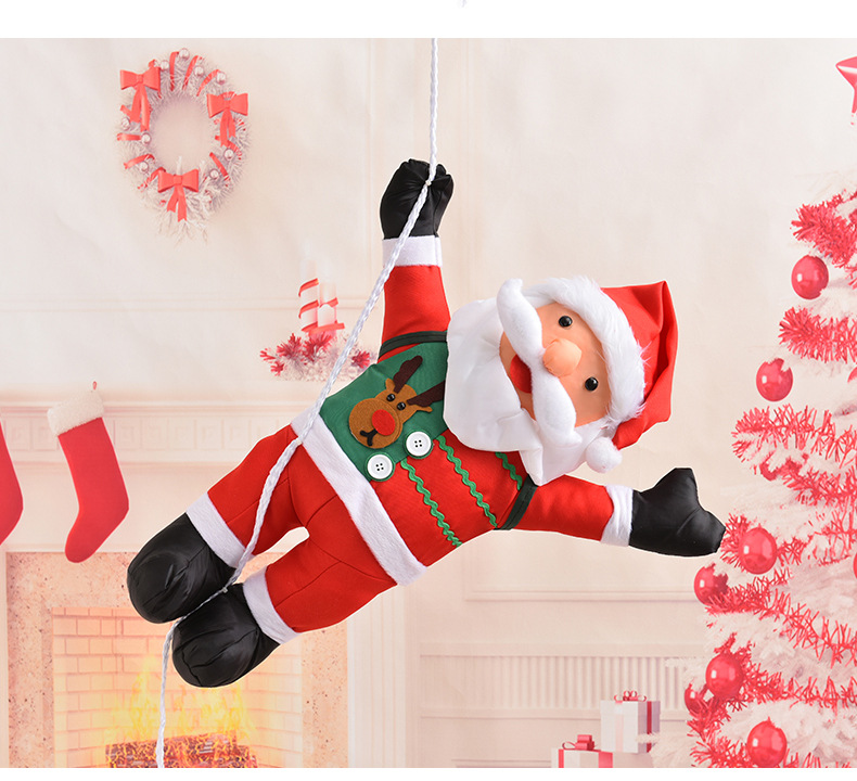 2019 60cm Climbing Ladder Swing Santa Claus Merry Christmas Decorations Diy Xmas Christmas Tree Pendant Doll For Home 2018 From Taylor001 25 48