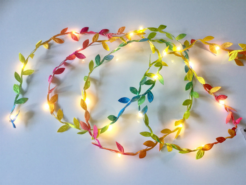 2M Leaf Garland Copper LED Fairy Lights String Christmas Decoration For Home Wedding Party Garden Plants DIY Decoration Y18102909