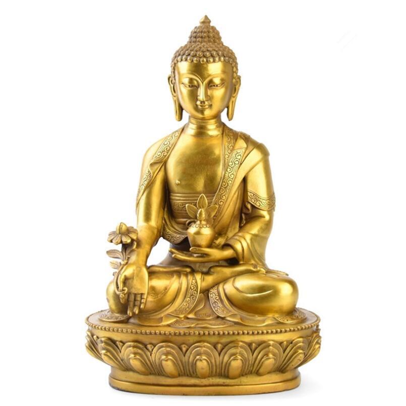 Guru-Shop M/áscara de Buda con el Ajuste del oro en 3 Tama/ños Tama/ño: 25cm M/áscaras 25x18x10 cm