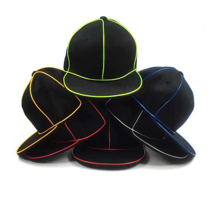 Großhandel El Drahtkappe 10 Farben Neon Led Licht Hüte Glow Kostüm ...
