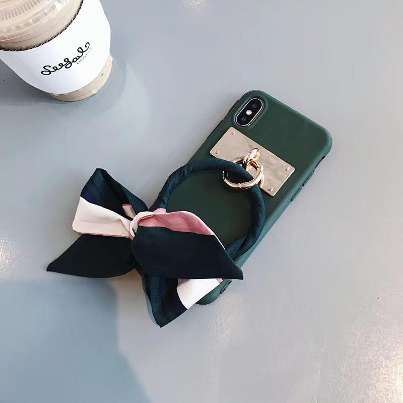 LUDI Luxury Silk Scarf Bow-knot Phone Case for iPhone XS MAX X Phone Cases for iPhone 678 Plus Soft Silicon Retro Fundas Capas02