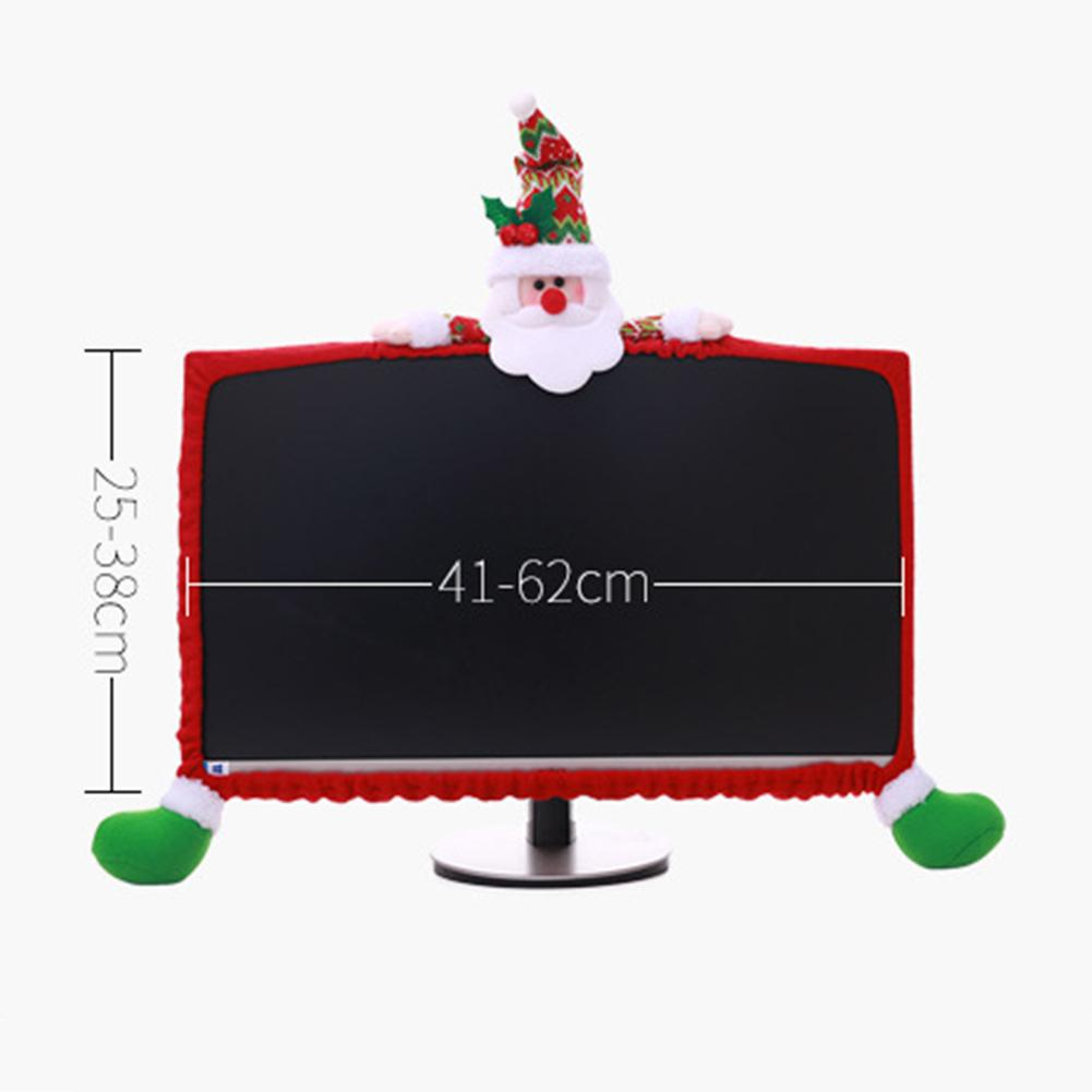 Christmas Laptop Computer Display Cover Decorative New Year DIY TV Decoration Monitor Screen Protector 44*10cm-30