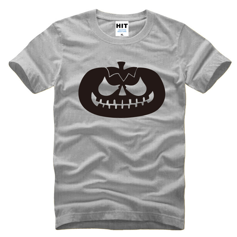 wishcart ABÓBORA DA LANTERNA Halloween Impresso Mens Camisa Dos Homens T Shirt Moda 2016 de Manga Curta O Pescoço de Algodão T-shirt Tee Camisetas Hombre
