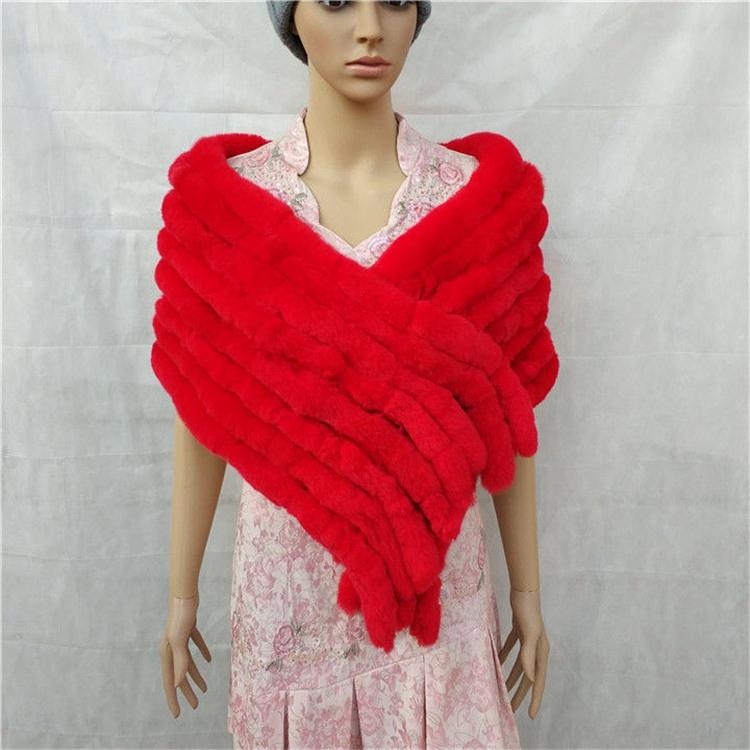 knitted rex rabbit fur scarf for women winter (15)
