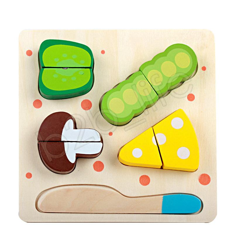 Enfants Jouet En Bois Cuisine Coupée Fruits Légumes Dessert Cuisson Jouets Enseignement Éducatif Jouet Enfants Intelligence Jouets GGA1268